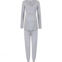 2-częściowa piżama w kolorze szarym do karmienia. Szare piżamy damskie bellybutton, xs, w paski, moda ciążowa, z długim rękawem. W wyprzedaży za 217,95 zł.