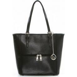 Torebki klasyczne damskie: Skórzana torebka w kolorze czarnym – 33 x 48 x 16 cm