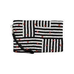 Kopertówki damskie: Kopertówka w kolorze biało-czarnym – (D)25 x (S)15 cm