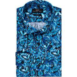 Koszula SIMONE KDWS000147. Szare koszule męskie na spinki marki S.Oliver, l, z bawełny, z włoskim kołnierzykiem, z długim rękawem. Za 199,00 zł.