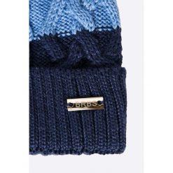 Barbaras - Czapka + szalik dziecięcy. Niebieskie czapki męskie BARBARAS, na zimę, z bawełny. W wyprzedaży za 79,90 zł.