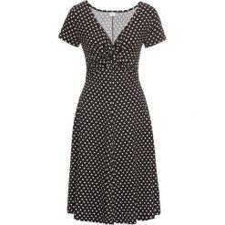 Sukienki hiszpanki: Sukienka dżersejowa bonprix czarno-biały w kropki