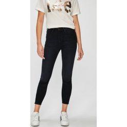 Lee - Jeansy Scarlett. Niebieskie jeansy damskie marki Lee, z bawełny, z podwyższonym stanem. Za 329,90 zł.