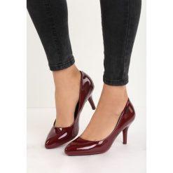 Bordowe Czółenka Craven. Czerwone buty ślubne damskie Born2be, na niskim obcasie, na stożku. Za 59,99 zł.