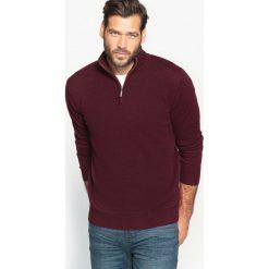 Golfy męskie: Sweter ze stójką zapinaną na zamek, 50% wełny