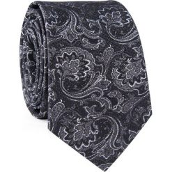 Krawat jedwabny KWSR000324. Szare krawaty męskie Giacomo Conti, z jedwabiu, eleganckie. Za 129,00 zł.