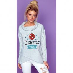 Bluza christmas cheers k239. Szare bluzy dziewczęce rozpinane marki Knitis, z nadrukiem, z bawełny. Za 129,00 zł.