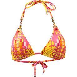 """Biustonosz bikini """"Aran"""" w kolorze różowo-żółtym. Żółte biustonosze marki NABAIJI. W wyprzedaży za 173,95 zł."""