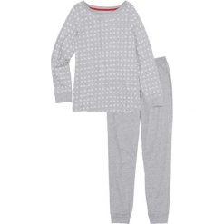 Piżamy damskie: Piżama bonprix jasnoszary melanż – kremowy