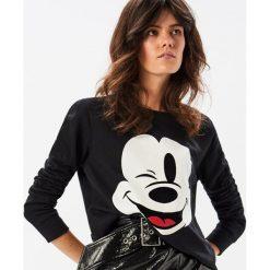 Bluzy damskie: Bluza z Myszką Miki - Czarny