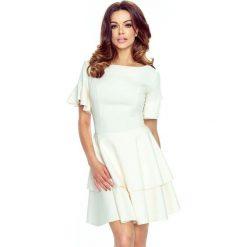 Sukienki: LIDIA urocza sukienka 2 koła jasny róż