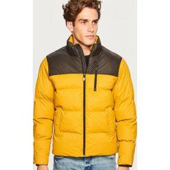 Pikowana kurtka ze stójką - Żółty. Żółte kurtki męskie pikowane Reserved, l. Za 169,99 zł.