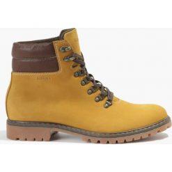 Buty zimowe męskie: Kozaki żółte Simone