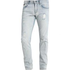Armani Exchange Jeansy Slim Fit denim indigo. Czarne jeansy męskie relaxed fit marki Armani Exchange, l, z materiału, z kapturem. Za 569,00 zł.