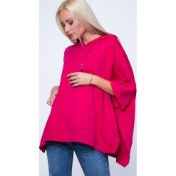 Bluza ponczo amarantowa MP17411. Czerwone bluzy damskie Fasardi, s. Za 55,20 zł.