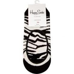 Skarpety Stopki Unisex HAPPY SOCKS - ZEB06-1000 Biały Czarny. Białe skarpetki męskie marki Happy Socks, z bawełny. Za 24,90 zł.