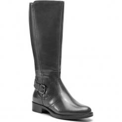Kozaki TAMARIS - 1-25564-21 Anthracite 214. Szare buty zimowe damskie Tamaris, z materiału, przed kolano, na wysokim obcasie, na obcasie. Za 459,90 zł.