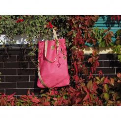 Duża pojemna torebka pikowana Candy pink. Różowe torebki klasyczne damskie marki Pakamera, duże, pikowane. Za 140,00 zł.