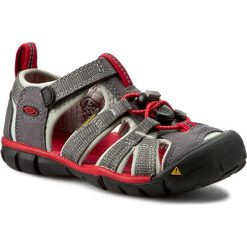 Sandały KEEN - Seacamp II Cnx 1014123  Magnet/Racing Red. Szare sandały męskie skórzane marki Keen. W wyprzedaży za 189,00 zł.