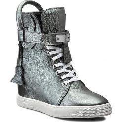Sneakersy R.POLAŃSKI - 0832 Srebrny Lico. Czarne sneakersy damskie marki R.Polański, ze skóry, na obcasie. W wyprzedaży za 329,00 zł.