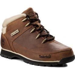 Trapery TIMBERLAND - Euro Sprint Hiker A121K/TB0A121K2141 Brown. Brązowe glany męskie marki Timberland, z gumy. W wyprzedaży za 489,00 zł.