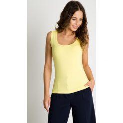 Topy damskie: Klasyczny żółty top BIALCON