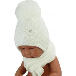 Czapka niemowlęca z szalikiem CZ+S 004A. Szare czapeczki niemowlęce Proman. Za 40,78 zł.