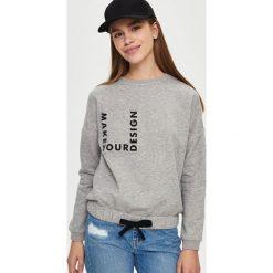 Bluzy rozpinane damskie: Bluza z wiązaniem - Jasny szar