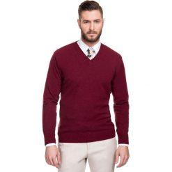Sweter FABRIZIO SWAR000114. Czerwone swetry klasyczne męskie Giacomo Conti, na jesień, m, z materiału. Za 229,00 zł.