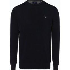 Gant - Sweter męski, niebieski. Niebieskie swetry klasyczne męskie marki GANT, l, z dzianiny, z klasycznym kołnierzykiem. Za 579,95 zł.
