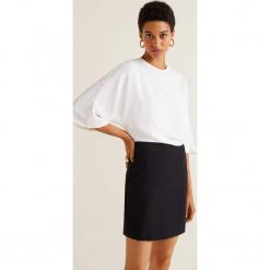 Mango - Sukienka Combi. Szare sukienki mini Mango, na co dzień, l, z elastanu, casualowe, z okrągłym kołnierzem. Za 139,90 zł.