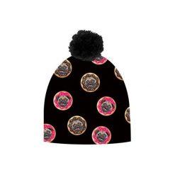 Czapka hauer CAKES PLUS. Czarne czapki zimowe damskie marki Hauer, z nadrukiem, z polaru. Za 69,00 zł.