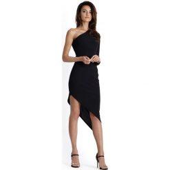 Czarna Asymetryczna Sukienka Ołówkowa na Jedno Ramie. Czerwone sukienki asymetryczne marki bonprix. Za 99,90 zł.