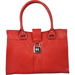 Torebki klasyczne damskie: Skórzana torebka w kolorze czerwonym – 32 x 22 x 10 cm