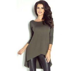 Tuniki damskie: Khaki Tunika z Ozdobnym Tyłem