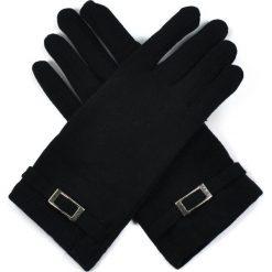 Rękawiczki damskie: Art of Polo Rękawiczki damskie z klamerką czarne r. uniwersalny