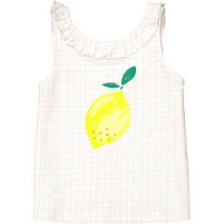Bluzki dziewczęce bawełniane: Koszulka bez rękawów w kratkę i wzór z cytrynką 3-12 lat