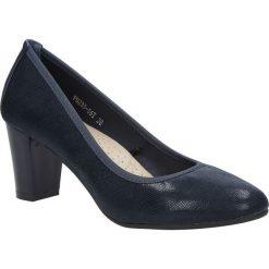 Granatowe czółenka na słupku Sergio Leone PB233-06T. Czarne buty ślubne damskie marki Sergio Leone. Za 88,99 zł.