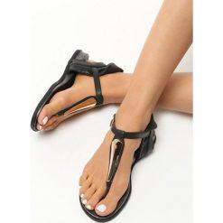 Rzymianki damskie: Czarne Sandały Hung Up