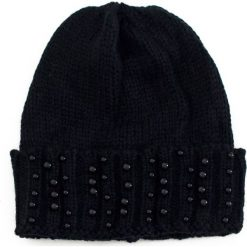 Czapka damska doker w perłach czarna. Czarne czapki zimowe damskie marki Art of Polo. Za 36,52 zł.