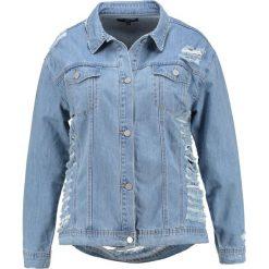 Bomberki damskie: Missguided Plus SHREDDED Kurtka jeansowa blue