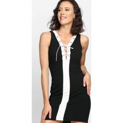 Czarna Sukienka Be Still My Love. Niebieskie sukienki letnie marki bonprix, z nadrukiem, na ramiączkach. Za 79,99 zł.