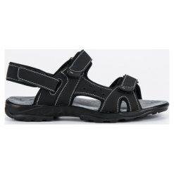 Sandały męskie: Sandały zapinane na rzepy HASBY czarne