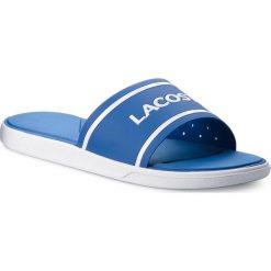 Klapki LACOSTE - L.30 Slide 218 1 Cam 7-35CAM0063221 Blue/White. Niebieskie chodaki męskie Lacoste, z tworzywa sztucznego. W wyprzedaży za 139,00 zł.