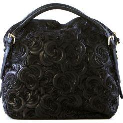 Torebki klasyczne damskie: Skórzana torebka w kolorze czarnym – 38 x 35 x 16 cm