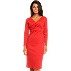 Czerwona Elegancka Sukienka z Zakładanym Dekoltem z Długim Rękawem. Brązowe sukienki balowe marki Mohito, l, z kopertowym dekoltem, kopertowe. W wyprzedaży za 97,23 zł.