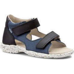Sandały MRUGAŁA - 1206-67 Jeans. Niebieskie sandały męskie skórzane marki Mrugała. Za 159,00 zł.