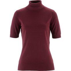 Sweter z golfem, krótki rękaw bonprix czerwony klonowy. Czerwone golfy damskie bonprix, z krótkim rękawem. Za 32,99 zł.