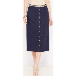 Długie spódnice: Długa spódnica 55% lnu