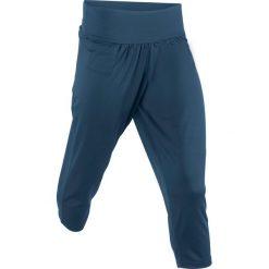 Odzież sportowa damska: Spodnie sportowe haremki funkcyjne, dł. 7/8 bonprix ciemnoniebieski